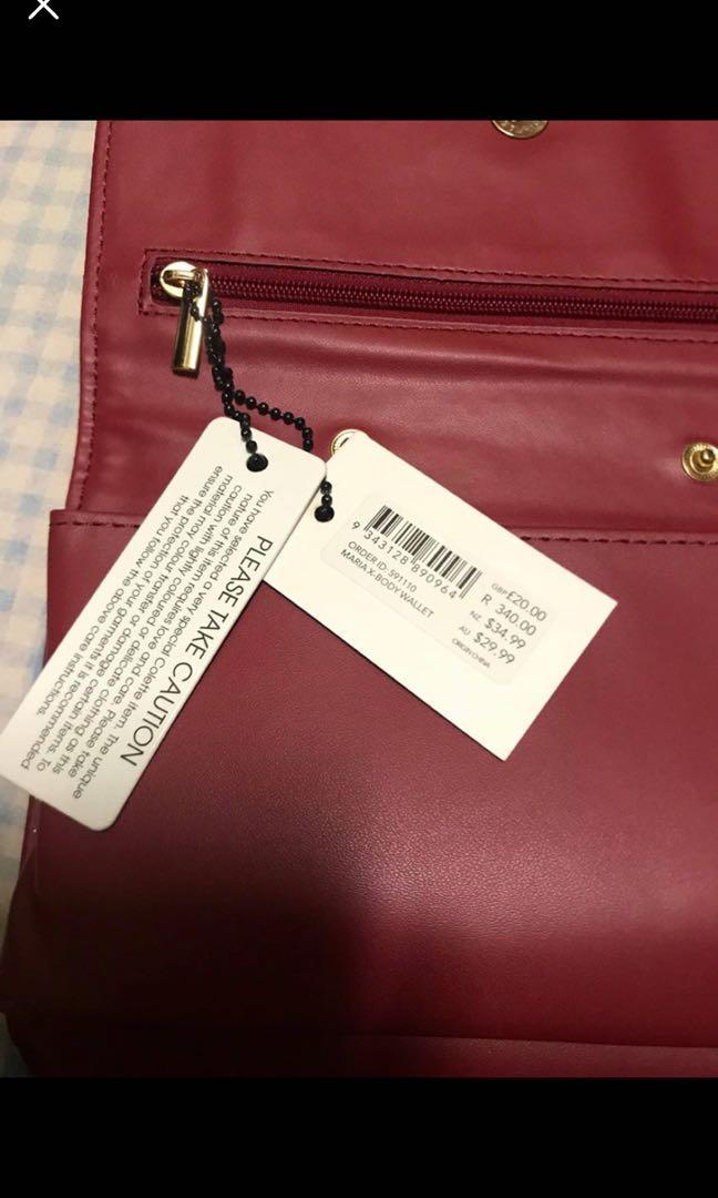 Colette Red Velvet Wallet/Purse/Small Bag