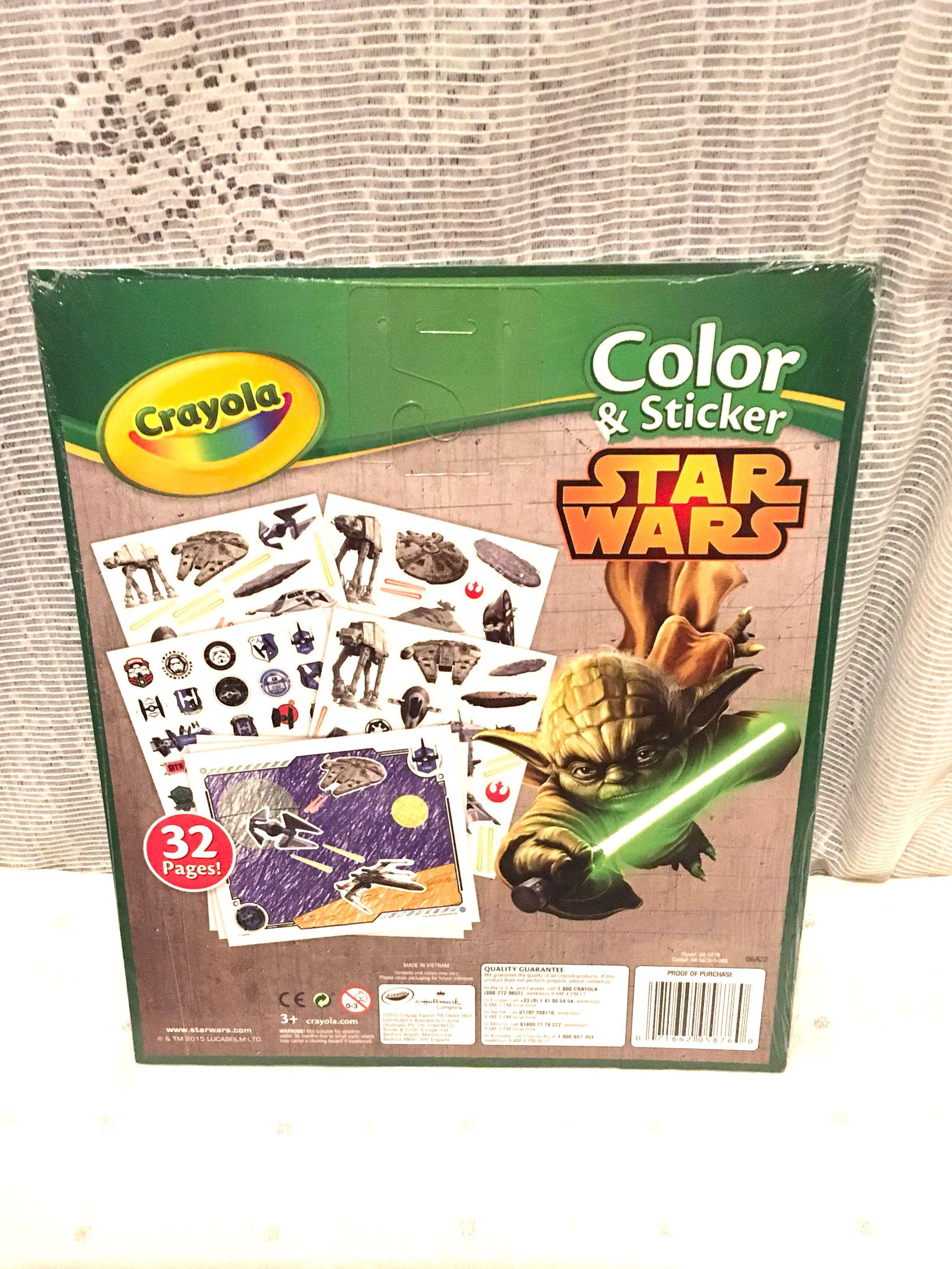 Crayola Color and Sticker Star Wars Kids Colouring Book