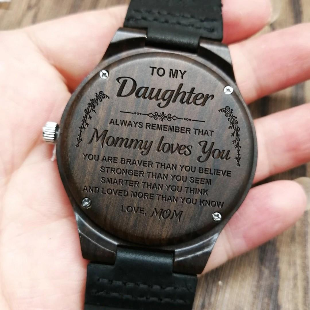 Customized Wooden Watches for Husband wife dad son daughter grandson fiance boyfriend
