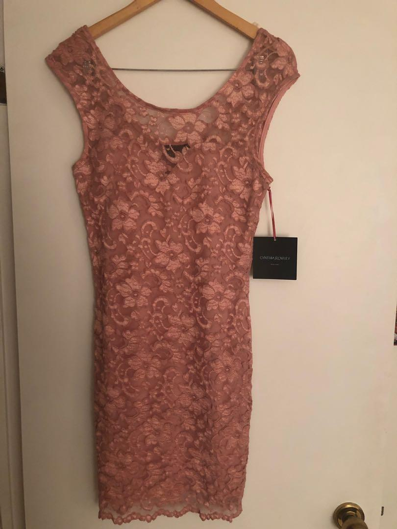 Cynthia Rowley pink sweetheart neckline party dress