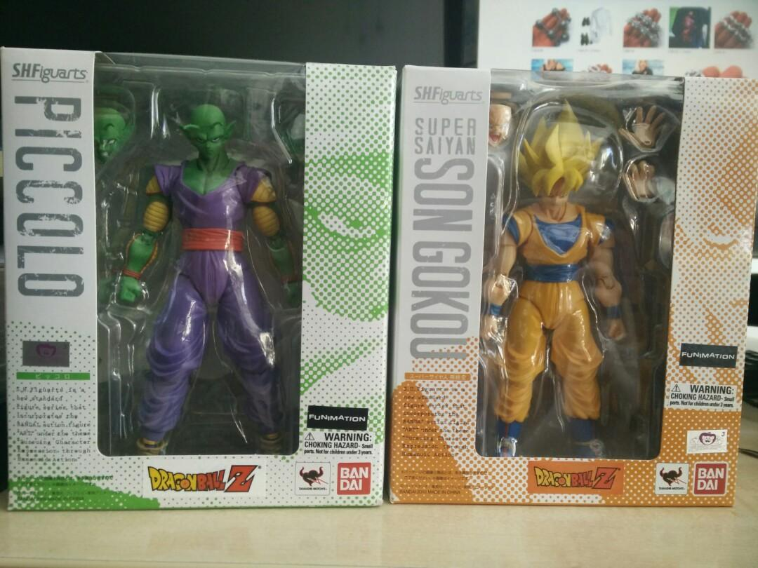 Dragonball Z S. H Figuarts super saiyan Goku and Piccolo