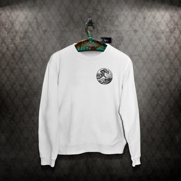 Great Wave Design Sweater