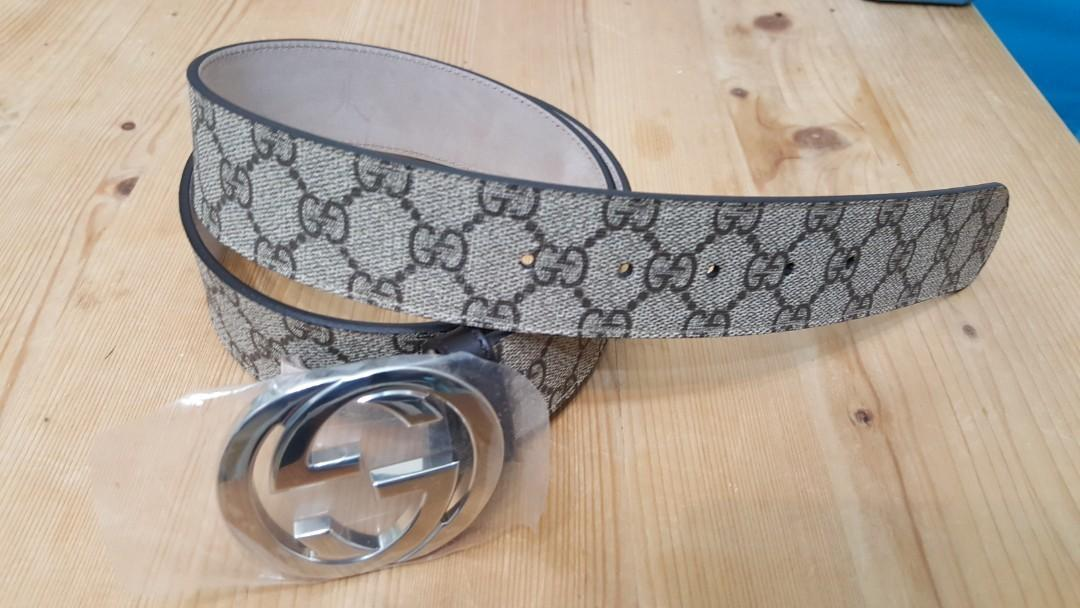 Gucci double buckle belt ,NEW
