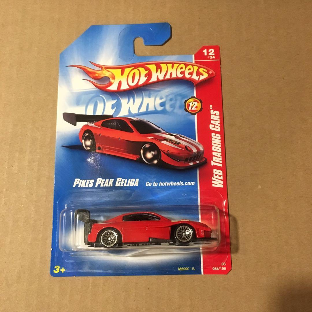 Hot wheels Pikes Peak Toyota Celica Red Web Code Trading