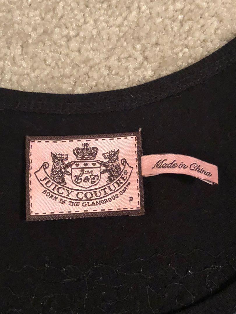 Juicy couture sequin striped cotton blend dress size petite
