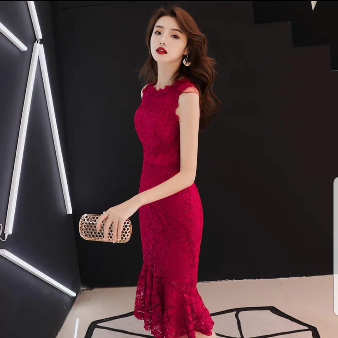 ab646e4d04c Lace Cheongsam dress  Wedding dress