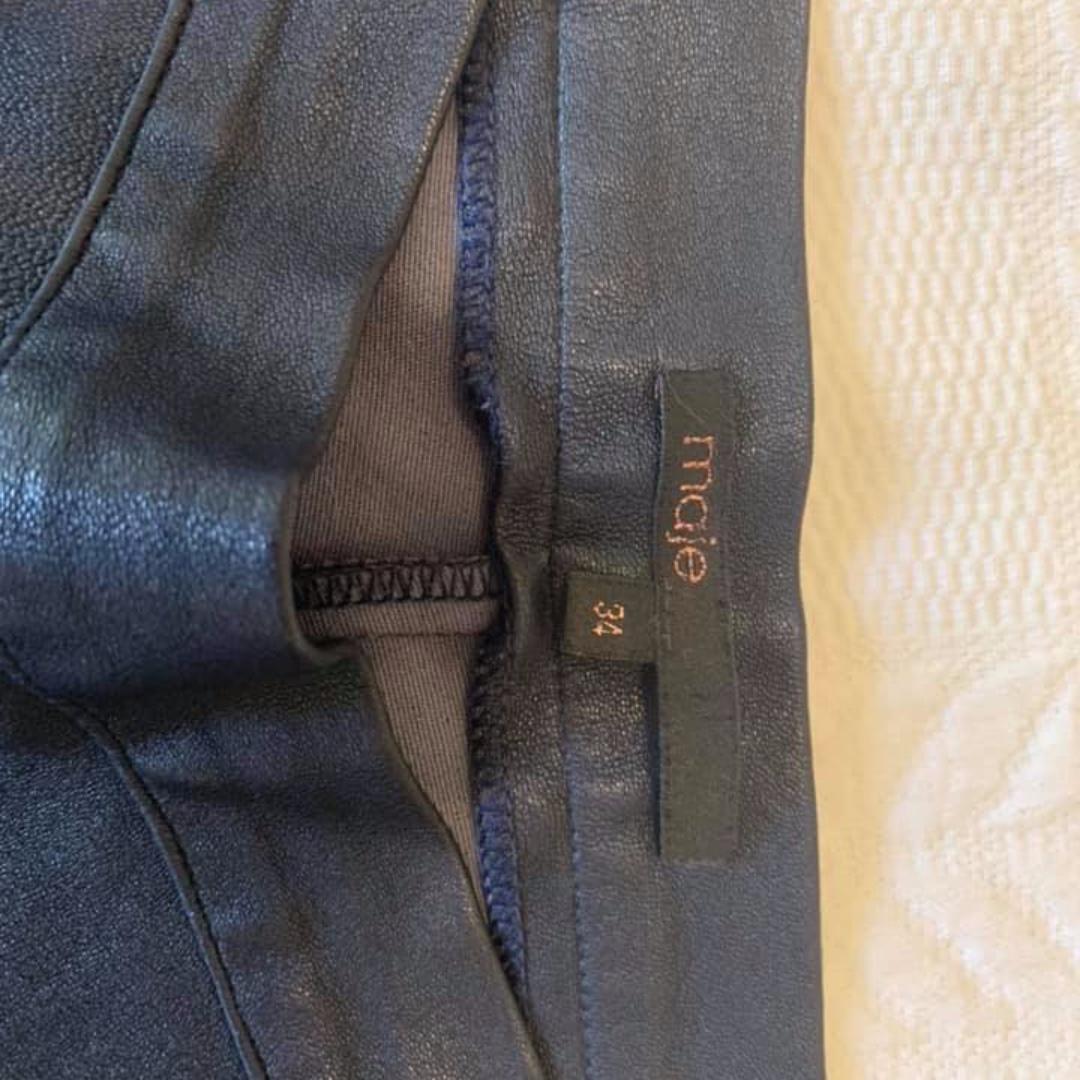 Maje Leather Leggings Pants Trousers 34 (AU 6 or 8)