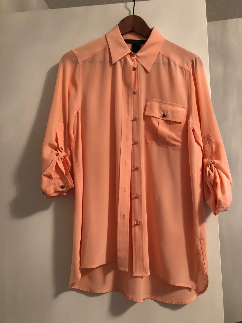 Marc by Marc Jacobs silk button down blouse in size 2