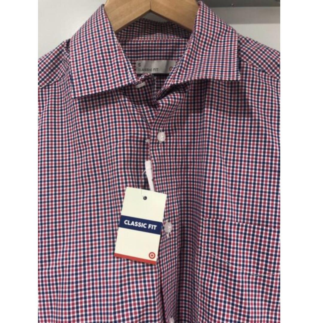 Men's long sleeve formal business shirt - NEW small