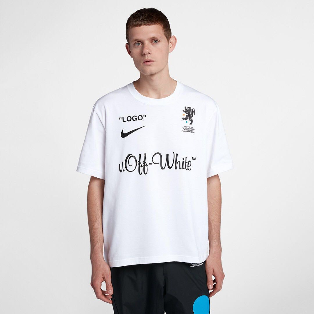 4f240c7c Off-white Nike Mercurial Tee, Men's Fashion, Clothes, Tops on Carousell