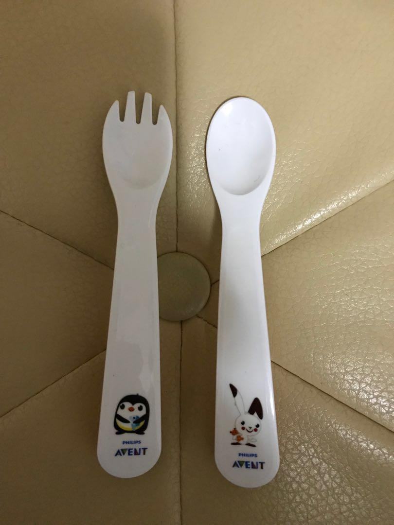 Philips Avent Baby feeding fork & spoon