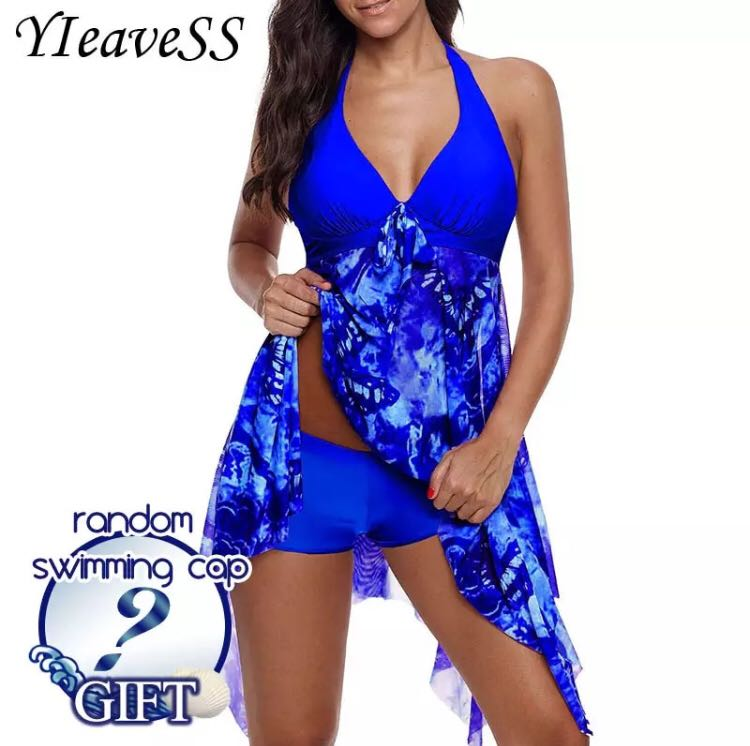 8fa8c09e01ba8 PO) S-5XL 2018 New Plus Size Tankini set Women Swimwear Two Piece ...