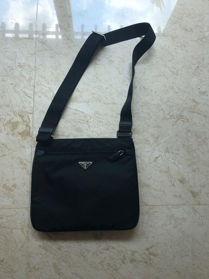 ab12a4d20db3 prada sling bag, Luxury, Bags & Wallets, Sling Bags on Carousell