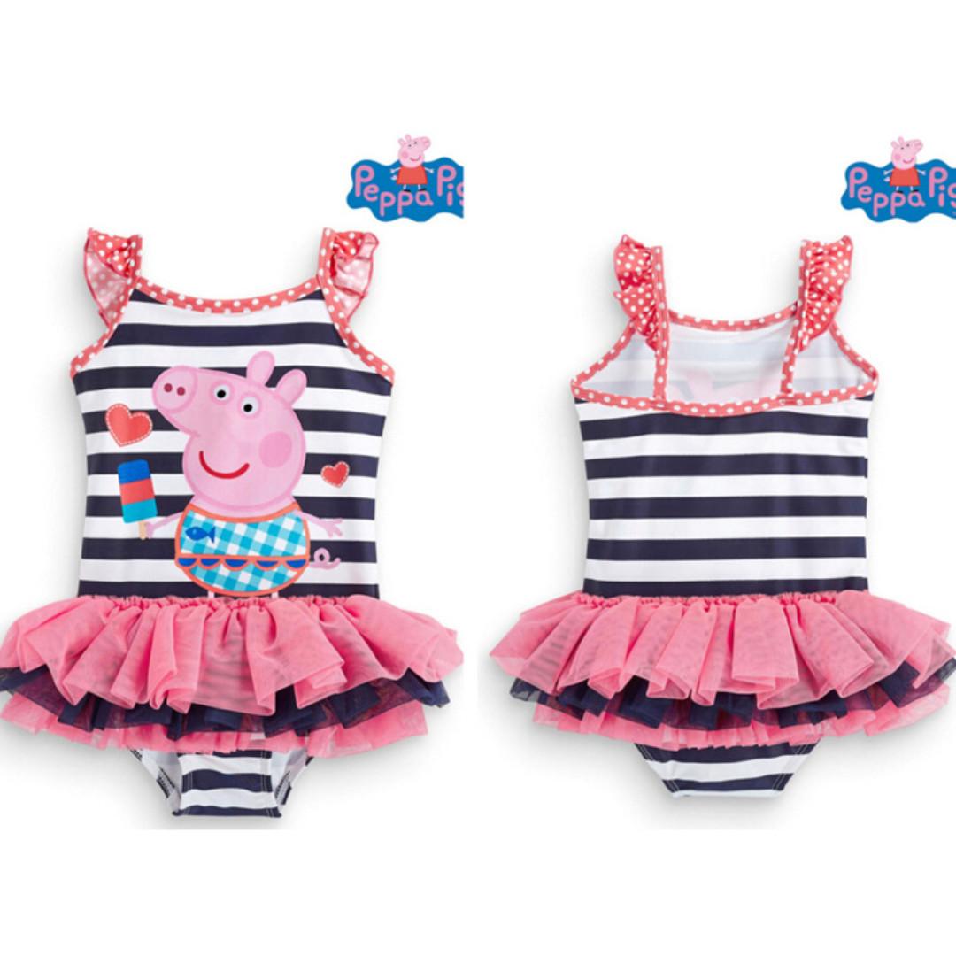 55691b1f41 Preorder Navy stripe Peppa Pig tutu style swimwear, Babies & Kids ...