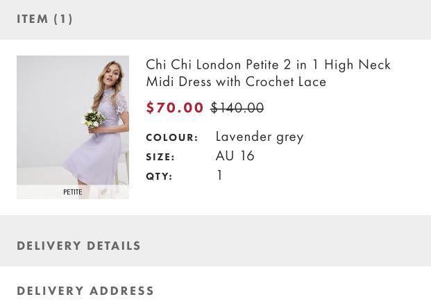Purple Midi Dress - Bridesmaid Dress Size 14-16 (Petite)