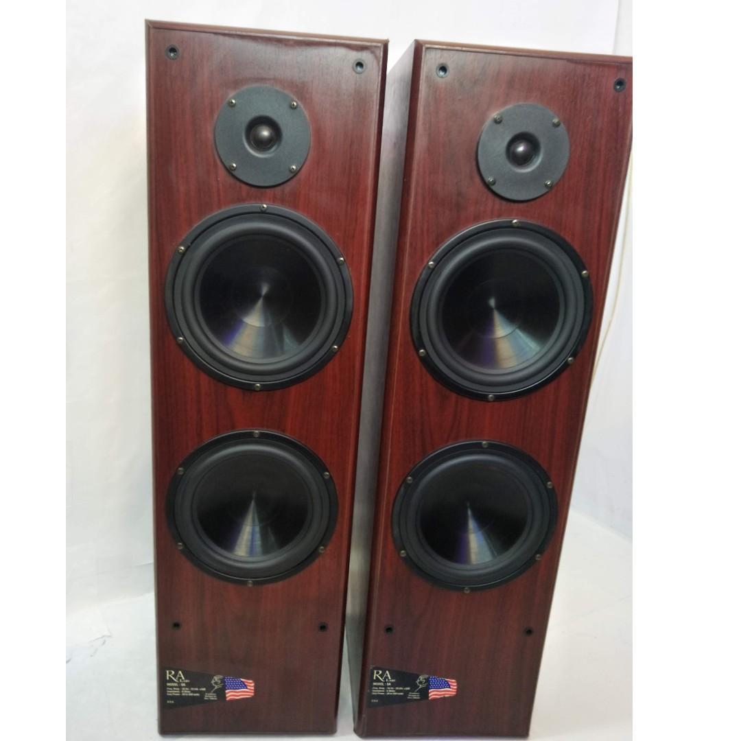 RA Roy Allison Double 8 inch  Bass Reflex Floor Standing Speaker
