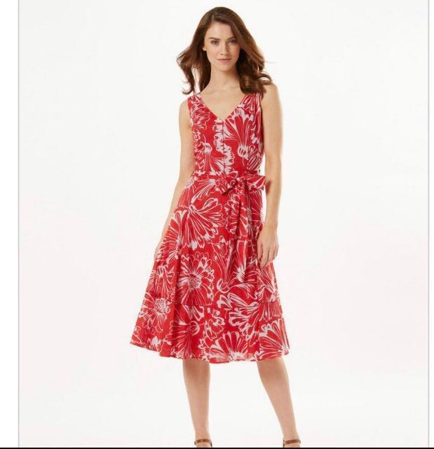 4082ff0c8fe Red dress   BNWT Phase Eight Penelope Floral Dress Size 18