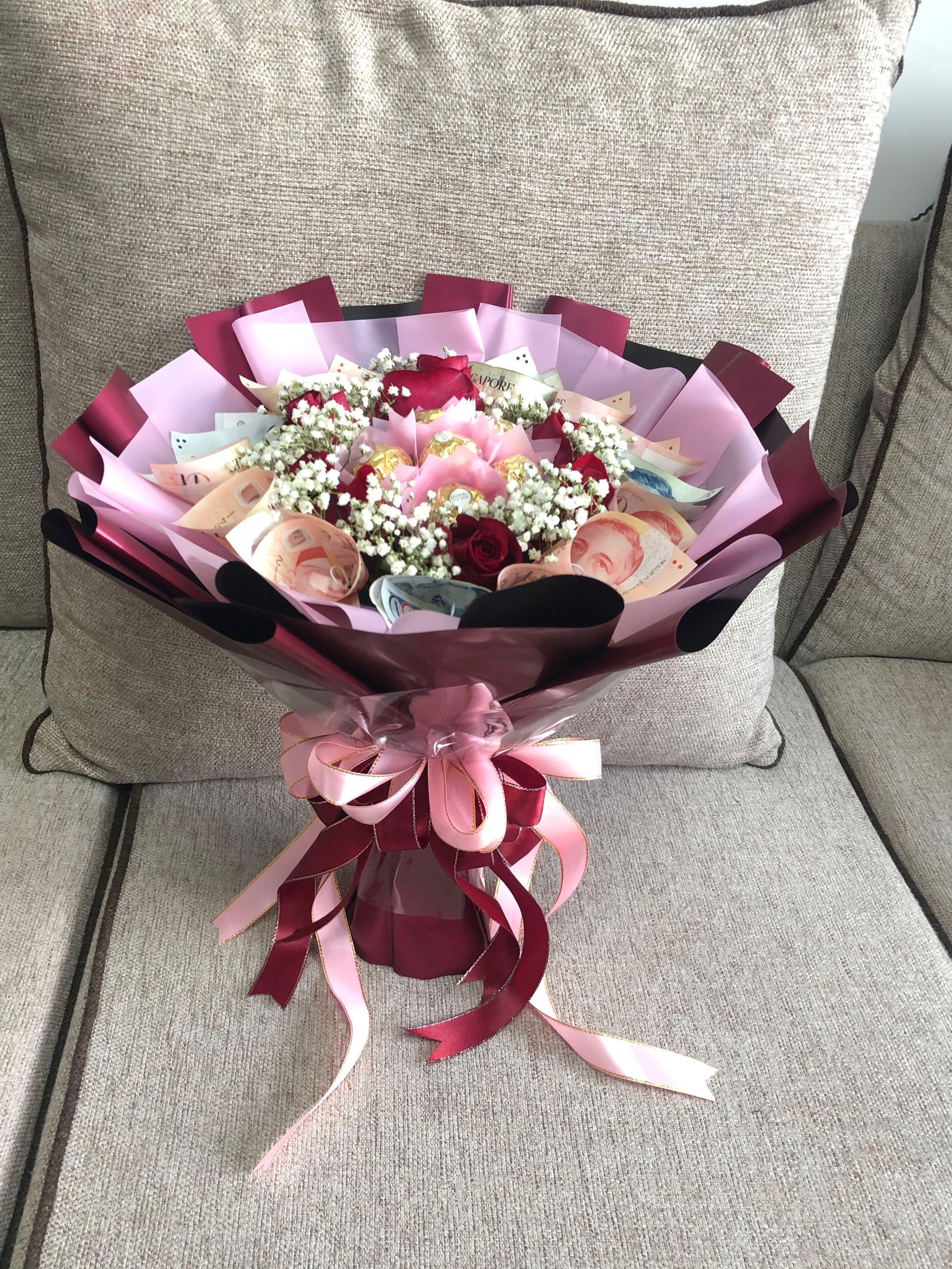 Rose Money Bouquet Gardening Flowers Bouquets On Carousell