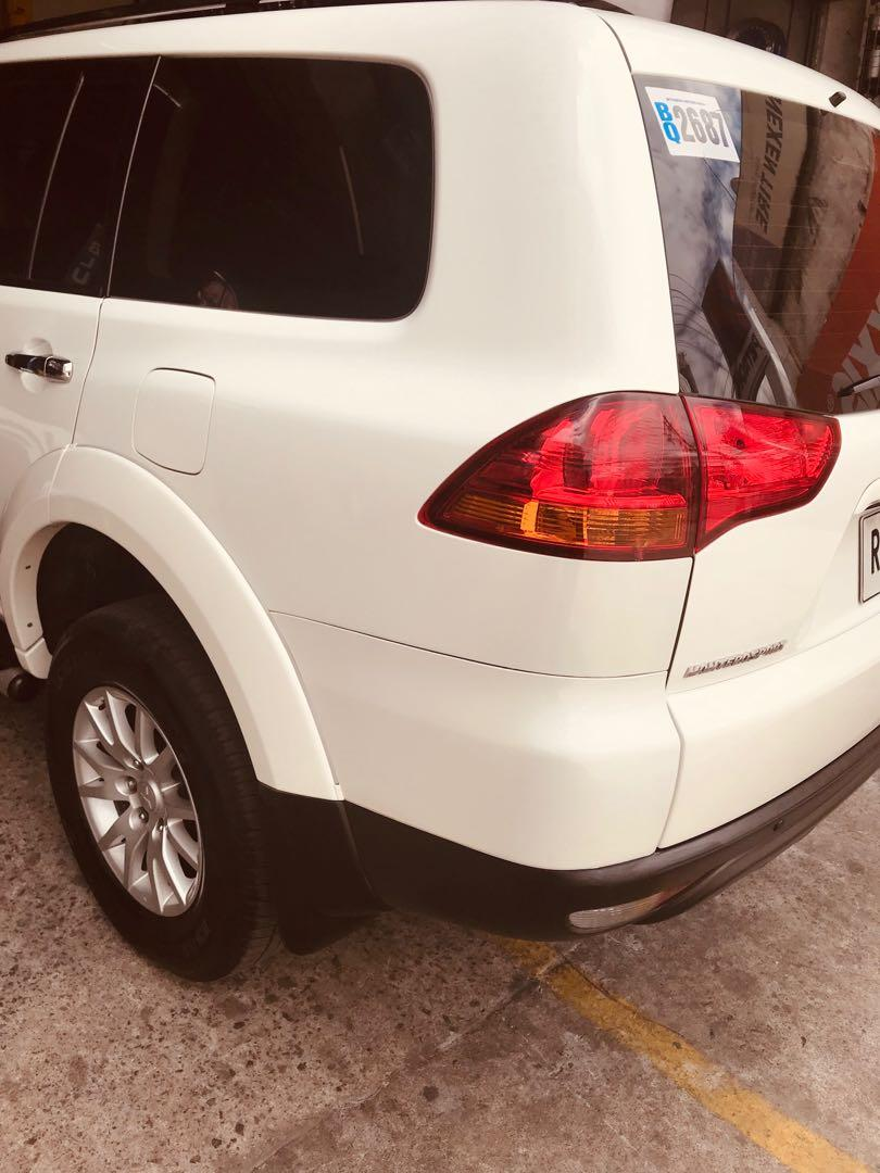 Rush sale montero sport 2012 model 2.5 diesel automatic 52tkms very low mileage pearl white shiny orig paint no issue good running condition