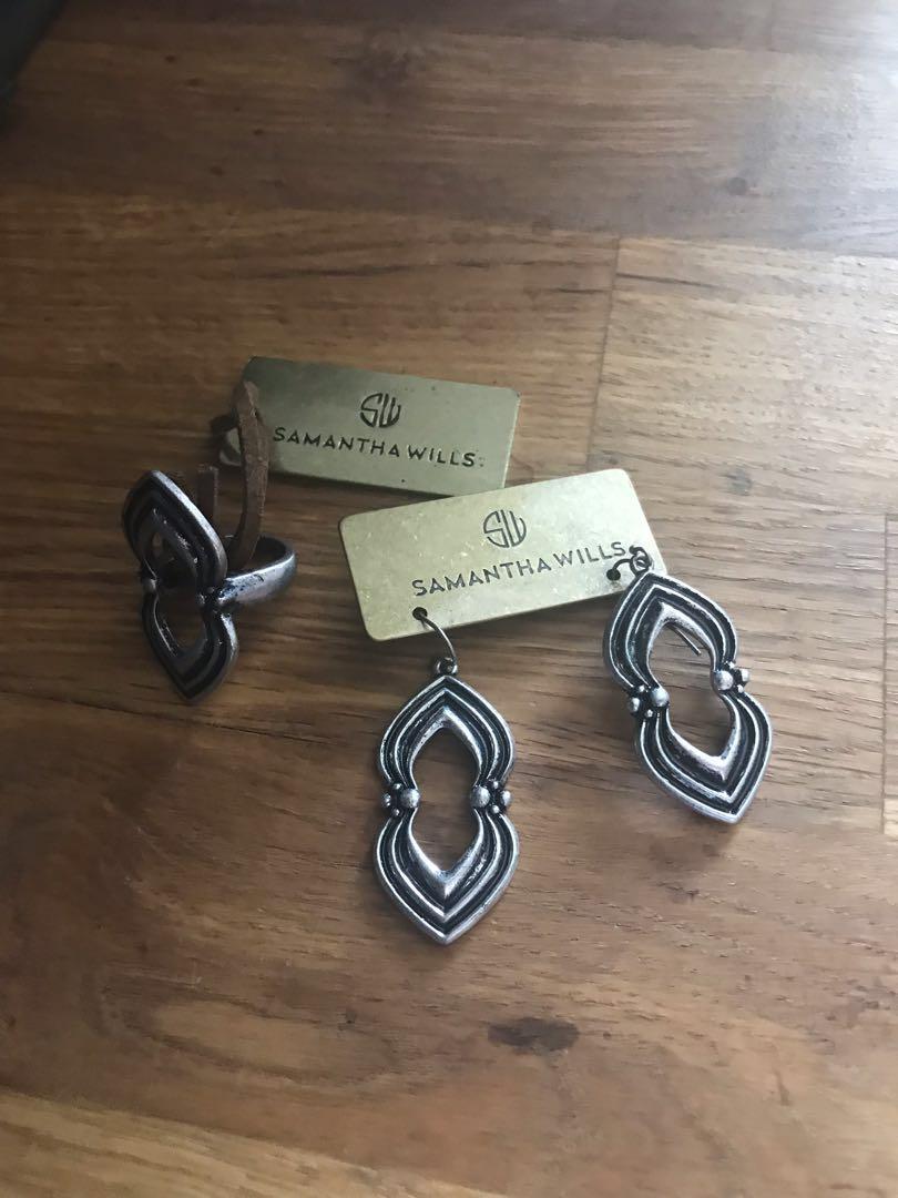 Samantha Wills earings and ring