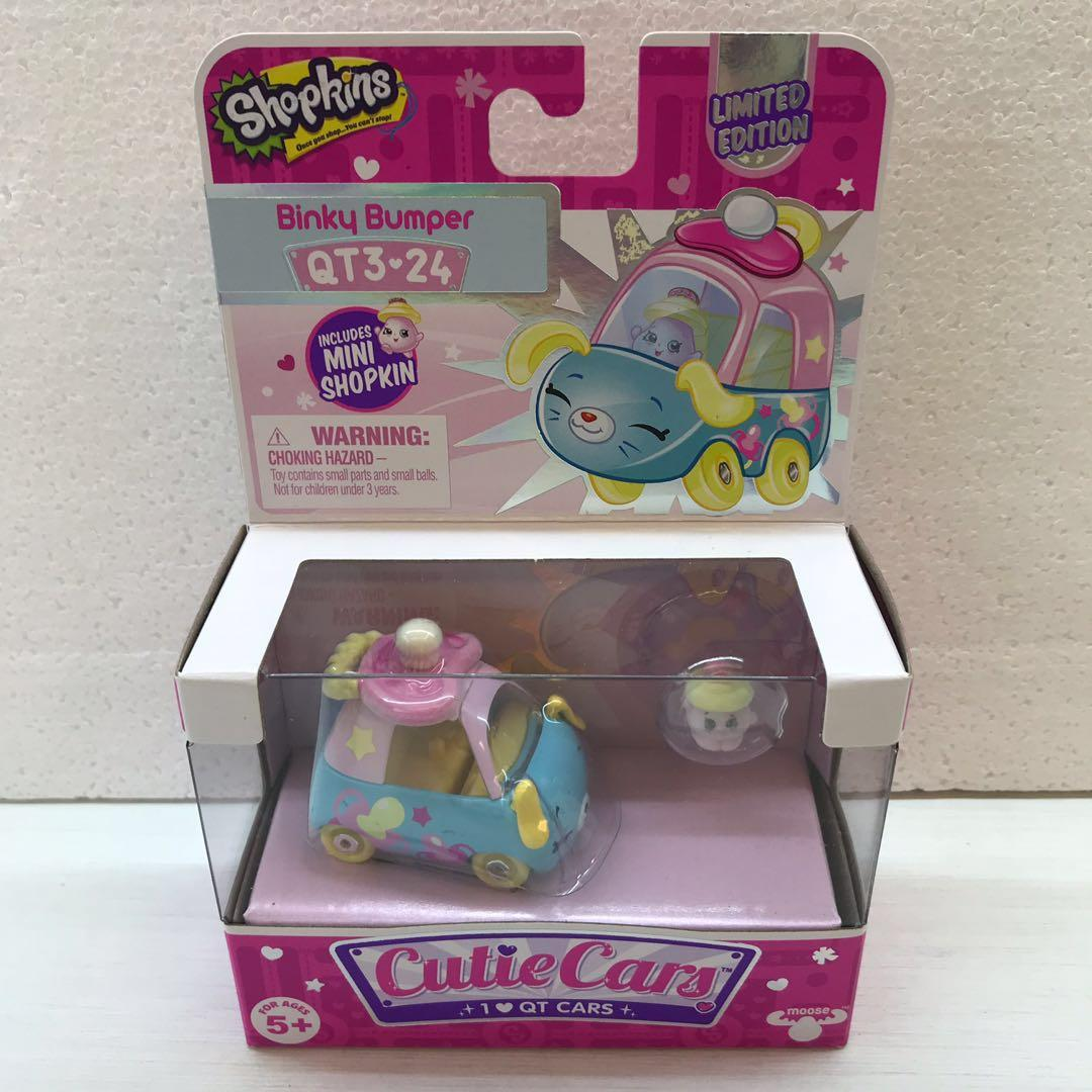 Shopkins Limited Edition Cutie Cars Series 3 Binky Bumper Qt3 24 Toys Games Bricks Figurines On Carousell