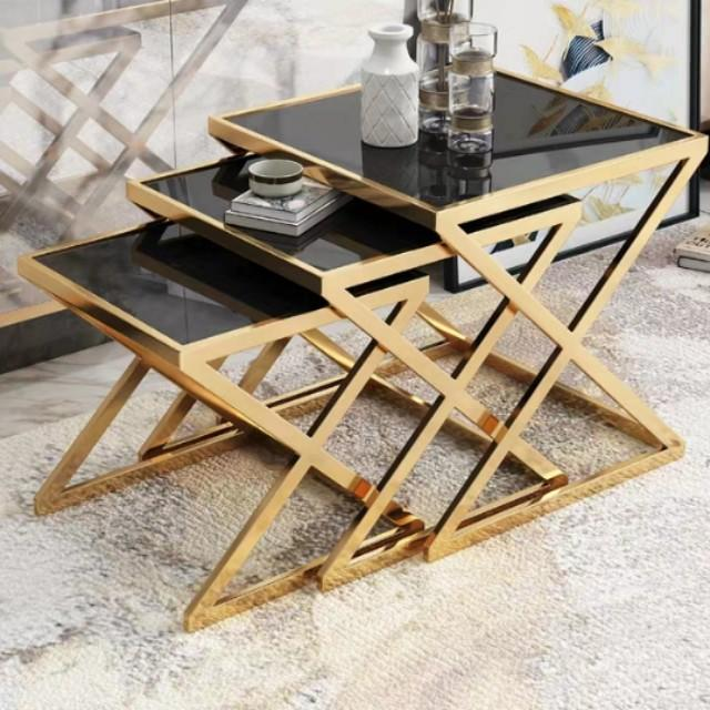 Brilliant Sphinx Gold Wireframe Side Table Set On Carousell Andrewgaddart Wooden Chair Designs For Living Room Andrewgaddartcom