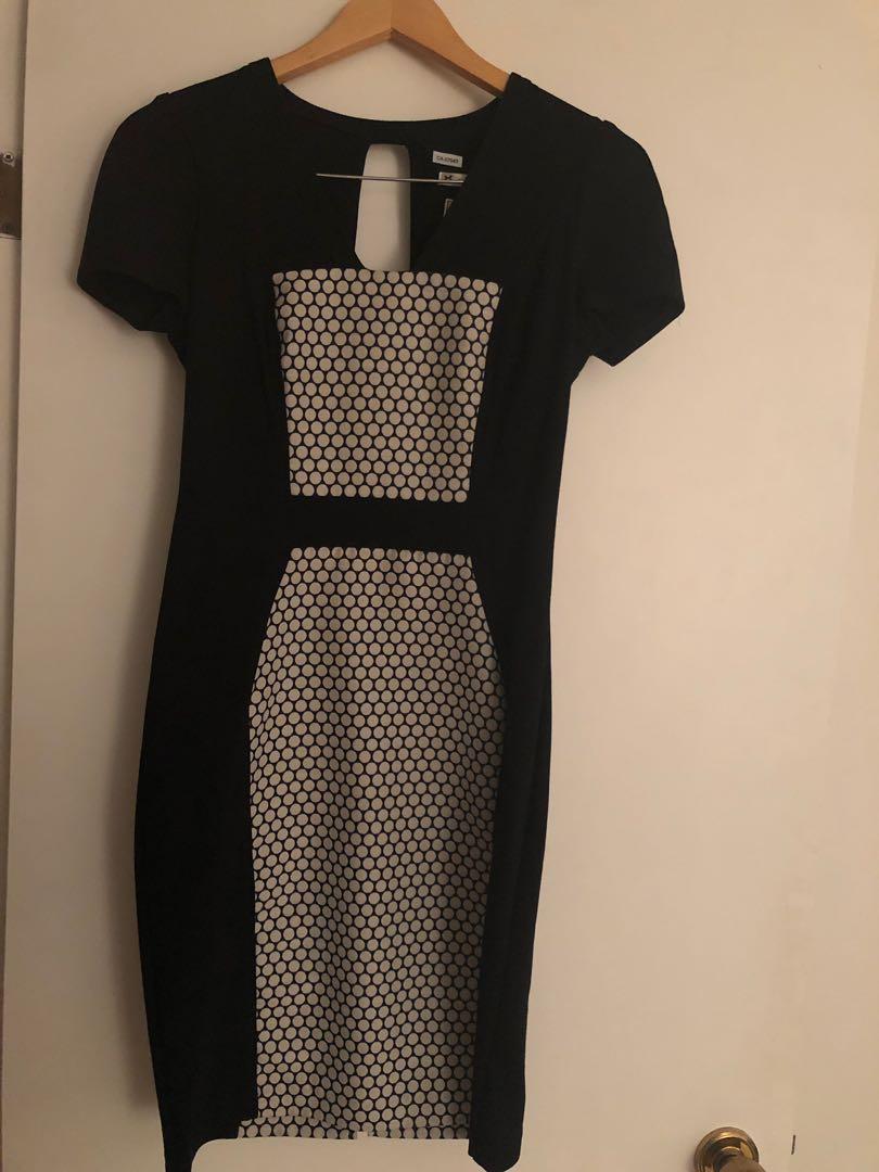 Stretch bodycon black and white Yoana Baraschi dress