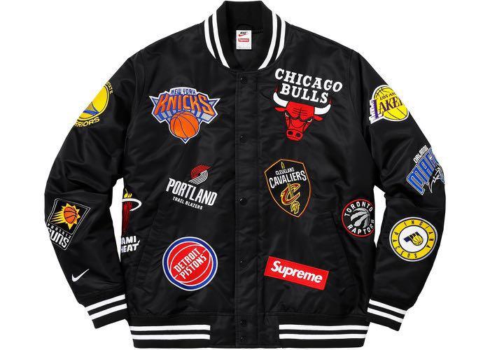 99ac29a6 Supreme Nike NBA Black Jacket, Men's Fashion, Clothes, Tops on Carousell