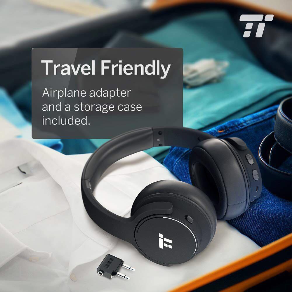 01d81cc08c8803 TaoTronics Active Noise Cancelling Bluetooth Headphones HiFi Stereo  Wireless Over Ear Deep Bass Headphone Headset Earphones w/CVC Noise  Canceling Microphone ...
