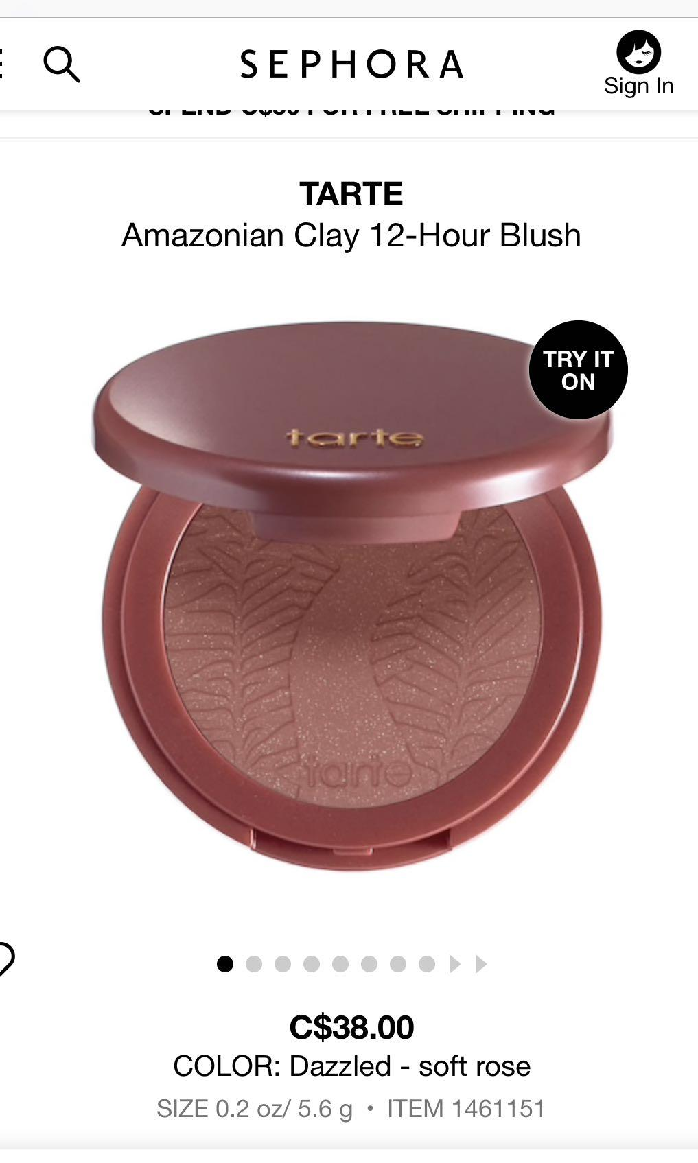 TARTE BLUSH 'DAZZLED'