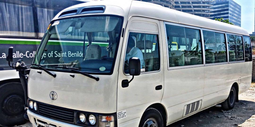 TOURIST BUS and COASTER FOR RENT for COMPANY OUTING Family Outing Fieldtrip and Pilgrimage