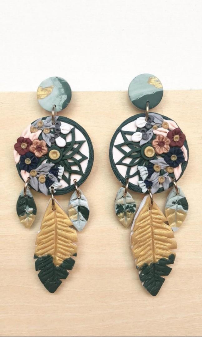 Whynotclay dream catcher earrings