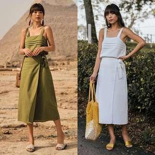 🚚 TCL Sahure Midi Skirt (M)