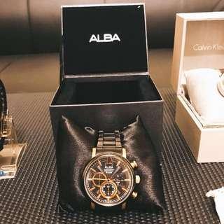 🚚 錶 Alba 3眼錶 玫瑰金