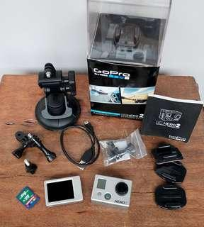 GoPro Hero 2 with LCD BacPac and UW casing