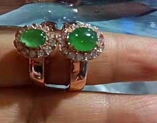 🚚 天然缅甸翡翠玉戒指