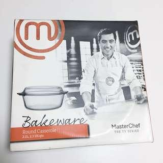 MasterChef round glass bakeware