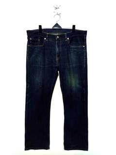 🚚 38腰 Levi's 502 深藍直筒牛仔褲 (A041)