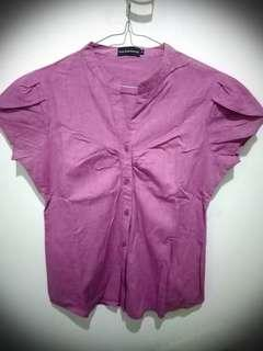 THE EXECUTIVE BLOUSE PINK FANTA SIZE M
