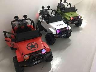 Instock New Jeep Electric ride on car with remote control for kid children toddler and newborn baby walker