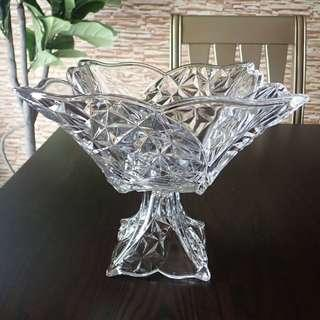 Japanese Crystal Bowl With Stand
