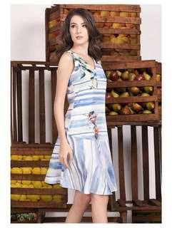 Plains and prints dress