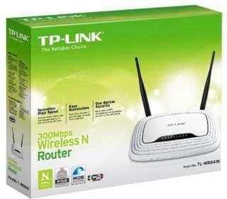 beli router wirless tplink kondisi normal