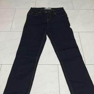 Navy Blue Denim Jeans