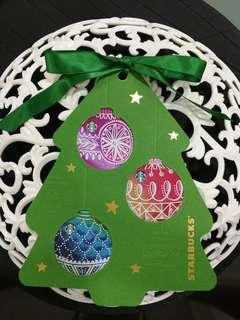 Starbucks China Christmas Bell Cards