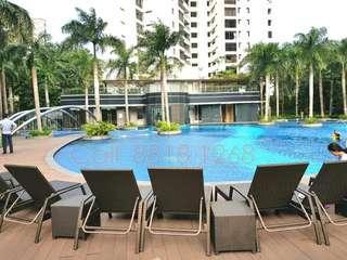 Fantastic View! Rare Best High Floor 2-Bedroom Unit For Rent!