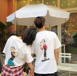 [全新]韓風情侶裝-大力水手、奧莉薇上衣T恤