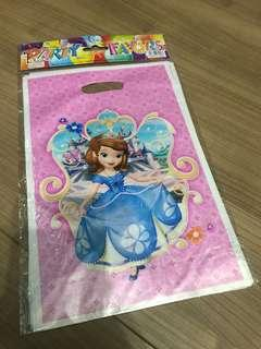Sofia the first party supplies - party bags/favors bag