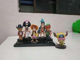 One Piece cute figurine and Naruto