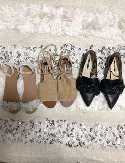 🚚 BN TCL/Zara/Steve Madden Shoes